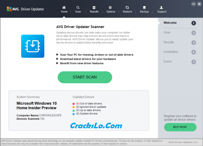 AVG Driver Updater 2020 Registration Key