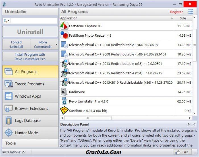 Revo Uninstaller Pro License Key