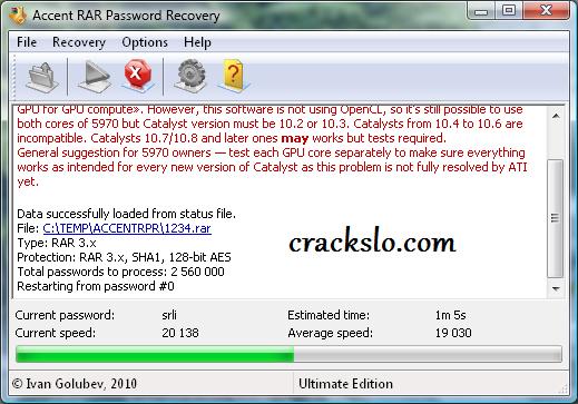 RAR Password Recover Activation key